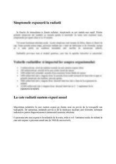 Referat: Efectele Radiatiilor asupra Organismului Uman (#285750) - Graduo Personalized Items, Biology
