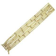 Cartier Diamond Gold Draperie de Decollete Multi-Strand Bracelet