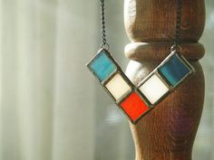 Mineral glass colour pendants  Now in our etsy shop and www.muditacrafts.co