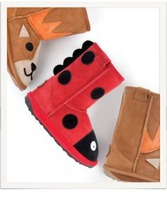 Shop a range of kids' sheepskin footwear at EMU Australia. Sheepskin Boots, Emu, Kid Shoes, Classic Style, Children, Kids, Slippers, Footwear, Cute