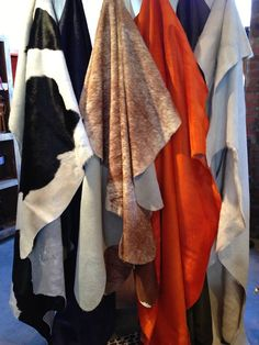 Our natural cowhides have short shiny hair and supple, soft leather.  They are tanned and hand picked at the best tanneries in Brazil.  These make unique and unforgettable gifts for the upcoming Holiday season!   #ShopSantaFe  www.casanovagallery.com
