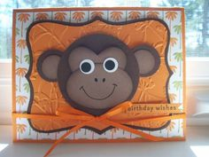 Birthday Monkey by Twinlynn - Cards and Paper Crafts at Splitcoaststampers