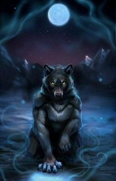 Quick painting for of their werewolf character Brannon. Thanks for the free reign! Art by me in Paint tool Sai Character belongs to Captured Moon Furry Wolf, Furry Art, Fantasy Creatures, Mythical Creatures, Demon Dog, Wolf Hybrid, Werewolf Art, Wolf Pictures, Amazing Pictures