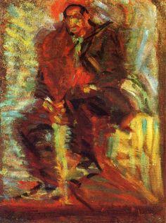 Page: The Farmer Artista: Joan Miró Fecha de comienzo: c.1912 Fecha de finalización:c.1914 Estilo: Fovismo Genero: escena de género Técnica: óleo Material: canvas Dimensiones: 65 x 50 cm Galeria: Private Collection Etiquetas: male-portraits (1912-1914)