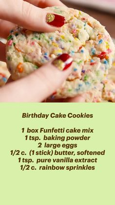 Cake Mix Cookie Recipes, Cake Mix Cookies, Cookie Desserts, Yummy Cookies, Easy Desserts, Cookies Et Biscuits, Delicious Desserts, Dessert Recipes, Yummy Food