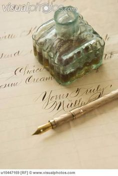 'Quill pen and ink bottle on old letter' quoted by previous pinner • I apologise for those unintentionally confronting words in the letters I have written to a flame, it's called the poison pen, you know who you are babe •  • I apologise for... • riawati
