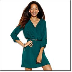 new mark. EVERYTHING GOES SHIRT DRESS This super-flattering shirt dress has additional appeal: its fabulous deep teal color! Complete with matching faux-leather belt. Viscose. Imported. Sizes: small (sizes 2-4), medium (sizes 6-8), large (sizes 10-12), x-large (sizes 14-16), xx-large (size 18) Price: $40.00  From Avon's Mark Catalog
