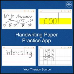 Handwriting Paper Practice App Review from www.YourTherapySource.com Pinned by SOS Inc. Resources. Follow all our boards at pinterest.com/sostherapy for therapy resources.