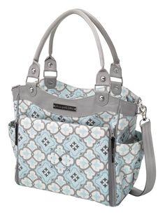 DIAPER BAG LOVE! Love, Love, LOVE! Classically Crete Petunia Pickle Bottom Bag. So darling.  #petuniapicklebottom
