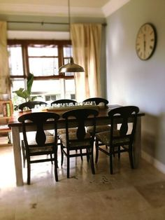 The Quaint Cottage: DIY Farmhouse Table (Plans) = extend top to side to avoid side brace - use wood w 1 center brace Furniture, Farmhouse Dining, House, Diy Table, Home, Furniture Plans, Diy Farmhouse Table, Farmhouse Table Plans, Table Plans