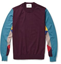 Undercover Panelled Cotton-Jersey Sweater | MR PORTER