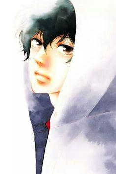 He looks so beautiful here Manga Boy, Anime Manga, Anime Guys, Anime Art, Ao Haru Ride Kou, Futaba Y Kou, Tanaka Kou, Best Romance Anime, Blue Springs Ride