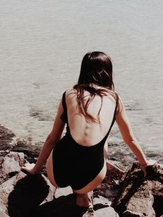 Black swimsuit —
