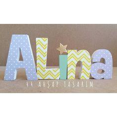 Alina ahşap isimlik - Alina wooden name | 44ahsaptasarim@gmail.com