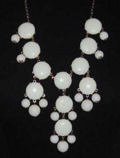Monica's Closet Essentials   White Bubble Necklace