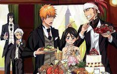 ichigo and rukia Bleach Manga, Bleach Ichigo And Rukia, Ichigo Y Orihime, Renji Abarai, Bleach Fanart, Drink Bleach, Manga Anime, Anime Art, Bleach Couples