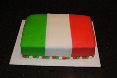 Italy Flag Cake