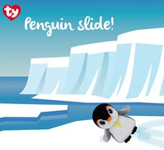 Pongo the penguin loves to glide on shiny ice!