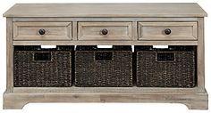 Oslember Storage Bench | Ashley Furniture HomeStore Metal Drawers, Sale Promotion, Engineered Wood, Mudroom, Basket Weaving, Storage Spaces, Bench, Furniture