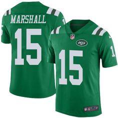 Nike Jets  15 Brandon Marshall Green Youth Stitched NFL Elite Rush Jersey  Taco Charlton 358378e68