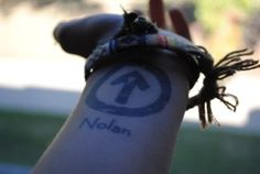 'Above the influence' tat..