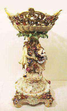 Dresden China Figurines   Antique China ,dinnerware, European porcelain Dresden Porcelain, Fine Porcelain, Porcelain Ceramics, Dresden China, Carlton Ware, Antique China, Centre Pieces, Fine China, Table Centerpieces