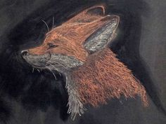Post with 106 views. Chalk drawing of a red fox Chalkboard Pictures, Chalkboard Drawings, Chalkboard Designs, Chalk Drawings, Chalkboard Art, Fox Drawing, House Drawing, Cute Sketches, Waldorf Crafts