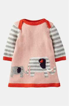 Mini Boden 'My Baby' Knit Dress (Infant) available at Nordstrom Knitting For Kids, Baby Knitting, Crochet Baby, Knit Crochet, Knitted Baby, Crochet Pattern, Knitting Patterns, Baby Outfits, Toddler Outfits