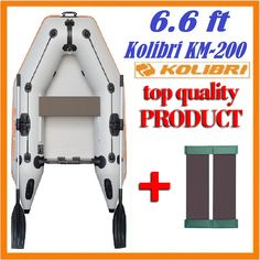 6.6 ft KOLIBRI KM-200 INFLATABLE BOAT FISHING Dinghy Schlauchboot Angelboot  #KOLIBRI