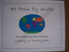 My Great Big World-Fun with Continents product from Ladybug-in-Kindergarten on TeachersNotebook.com