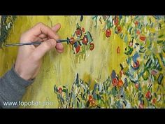 ▶ Art Reproduction (Klimt - Apple Tree I) Hand-Painted Step by Step - YouTube | Watercolor, Oil, Acrylic... | Pinterest
