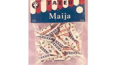 Fazerin Maija. Copyright: Fazer. Those Were The Days, The Old Days, Retro Candy, Good Old Times, Old Ads, Teenage Years, Spice Girls, Long Time Ago, Vintage Ads