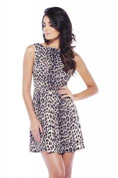 Animal Print Skater Dress $38 shopmodmint.com