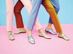 design, colorful pants, shoes