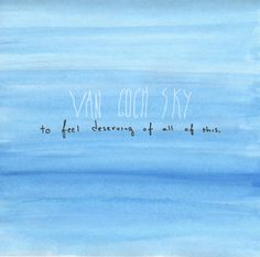 Van Gogh Sky - To Feel Deserving Of All Of This [math.rock]