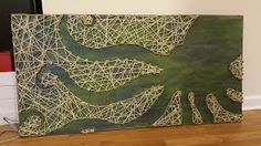 Image result for string art sea horse