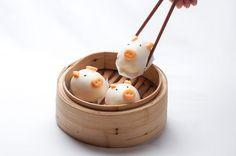 豬仔包 Piglet Buns (with egg custards)