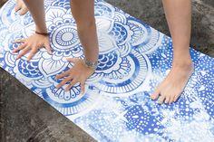 Mandala Yoga Mat © latest boho yoga mat from vagabond-goods.