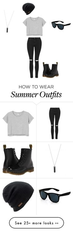 """""""Outfit #1"""" by katiej1028 on Polyvore featuring Topshop, Monki, Dr. Martens, Coal and Karen Kane"""