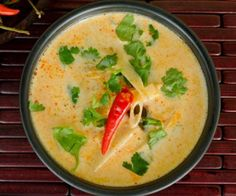 Thermomix Tom Kha Gai soup Full of wonderful flavours, you'll feel instantly transported to Thailand with this classic chicken and coconut soup. Warming and incredibly comforting, this soup w…