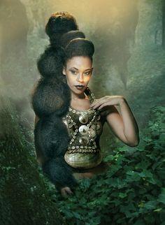 .      Black Rapunzel      Amazing Picture