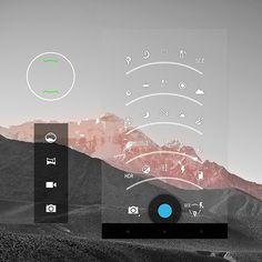 Dribbble - Camera GUI kit PSD by chirag dave - uijunction Ui Design Patterns, Web Design, App Ui Design, Interface Design, User Interface, Flat Design, Graphic Design, Information Architecture, Visualisation