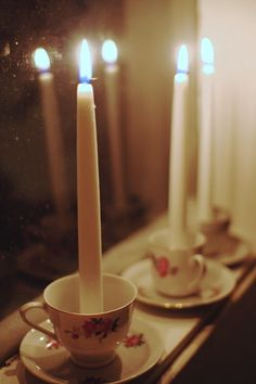 coffee cup candle holders