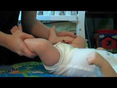 Baby Yoga for Gas and Colic Relief  One thing to change: Always massage the belly clockwise (this helps digestion)