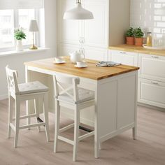 TORNVIKEN Kitchen island, off-white, oak. The TORNVIKEN series is ideal when you need more workspace, more storage ‒ more kitchen. Combine a kitchen island with shelves to create a rustic kitchen where you can cook together. Ikea Kitchen, Kitchen Furniture, Kitchen Decor, Kitchen Cabinets, Kitchen Layout, White Cabinets, Kitchen Ideas, Kitchen Inspiration, Wood Furniture