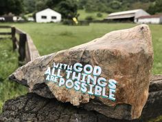 ROCKS OF FAITH with God all things are possible by RocksOfFaith on Etsy