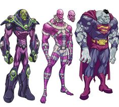 A #tbt of some character designs I did back in the day for fun. I was trying to stay super simple on these...almost batman the animated series style :) #superman #bizarro #parasite #braniac #dccomics #dc by eddienunezart