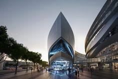 Aedas' Leaf-Shaped Sales Gallery Nears Completion in Shanghai