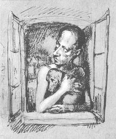 Bruno Schulz - autoportret z psem