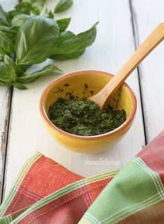 Skinny Basil Pesto - Making pesto at the end of the summer and keeping it in the freezer is also a great way to use up the last of the basil from your garden so that you can enjoy it year round.